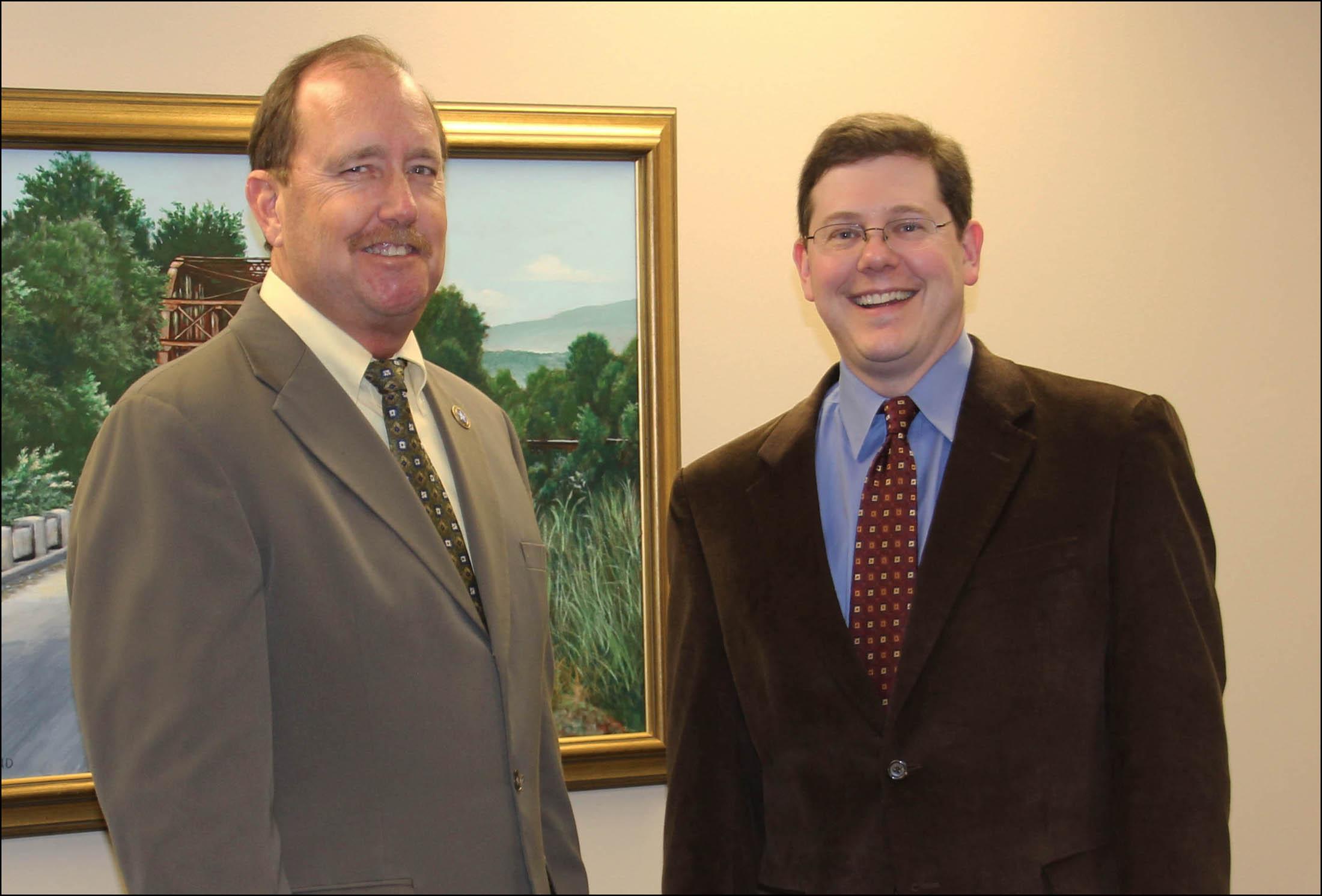 Mayor Shockley and President Webb