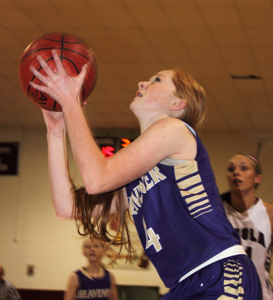 The Lady Wolves' Emily Yandell goes in for a score during last week's game at Pocola