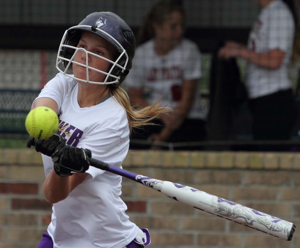 Heavener's Elyssa Turner is poised to lay into a hit in Monday's win over Poteau