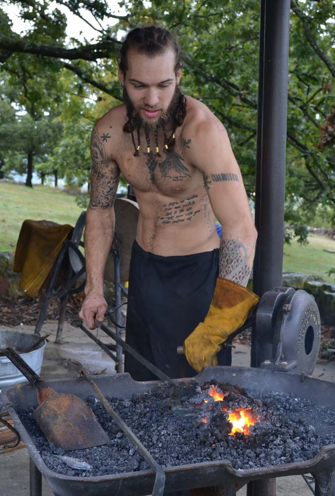 Joshua McIntire with Razor's Edge Knife Works from Des Moines, Iowa will provide demonstrations of Viking style blacksmithing and have his numerous wares for sale at the Festival