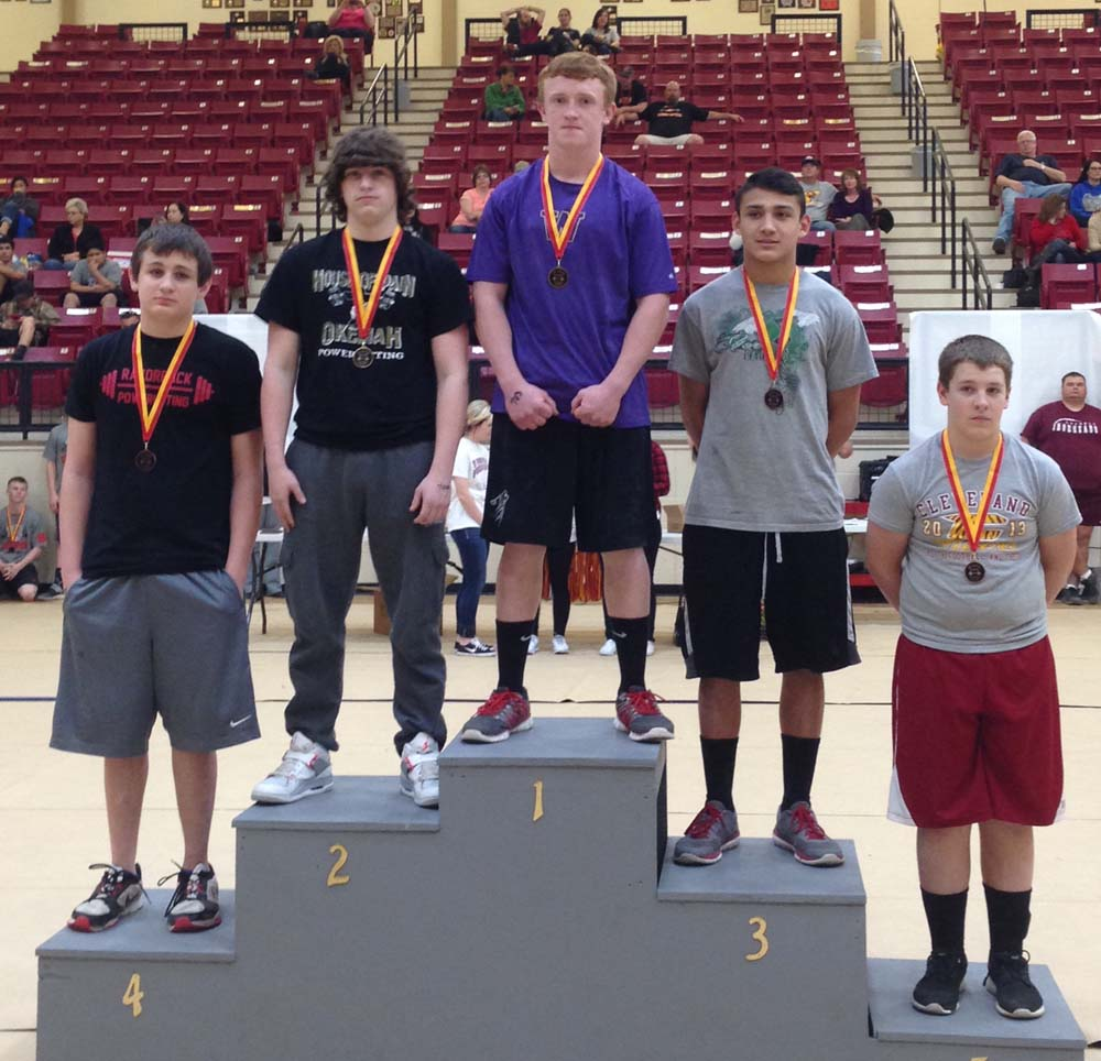 Braden Hudlow won the 168-pound weight class state championship at the junior high state meet on Tuesday