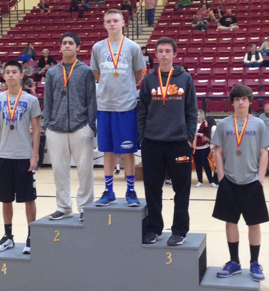 Jack Duchel of Heavener was fifth in the 123-pound division