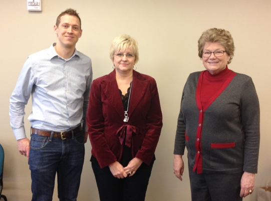 Newly elected officers (l to r) Tyler Petersen, Traci Barnes and Susan Jenson.