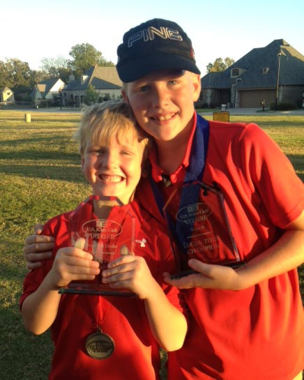 Garrison, left, and Connor Whitworth both won player of the year awards for the U.S. Kids Fall Tour in Tulsa