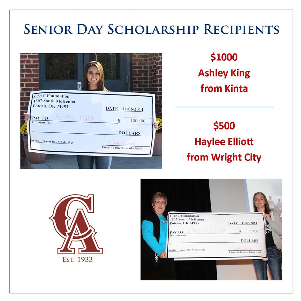 Senior Day scholarship winners photo for publication small