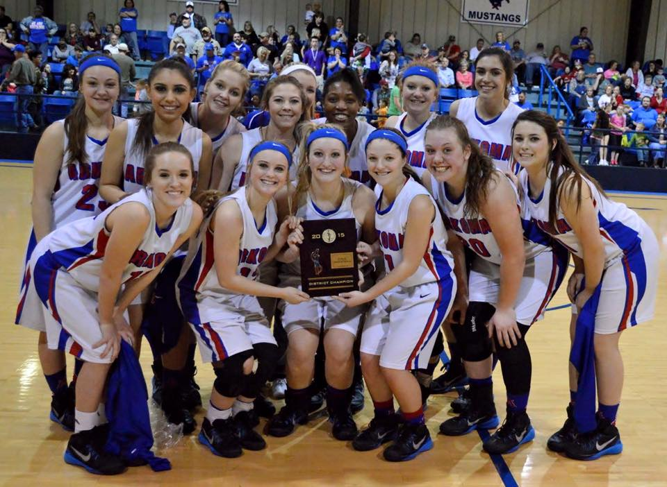 The Arkoma girls won a Class A district tournament on Saturday with a win over Keota