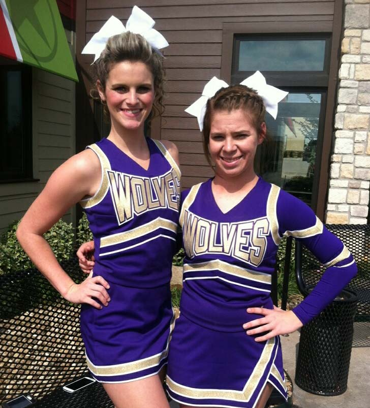 Shaylie Sanders, left, and Makayla Cheek were selected to the all-region cheer squad on Tuesday