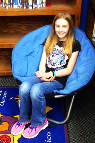Olivia Chambers, a sixth grade student won an award for the most words read for the first three nine-week periods. She has read over 3.5 million words thus far this school year.
