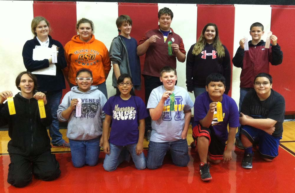 Pictured from left to right, bottom row: Kystro Moore, Jasmine Aguilar, Vanesa Romero, Trent Hildebrant, Edwin Martinez and Daniel Ellis  Back Row: Lake Psencik, Lillian Smith, Quinn Grice, Seth Anderson, Maya Kate Rodriguez and Elijah Cook