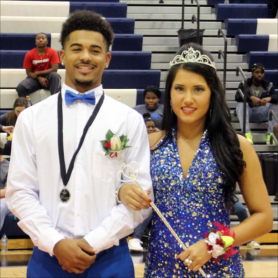 William Wheeland and Raelynn Caldwell were selected the CASC homecoming queen and king on Thursday