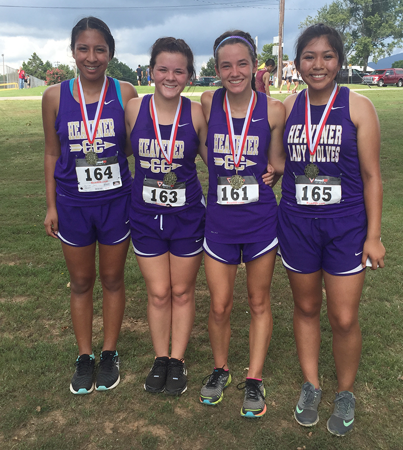Heavener's girls had four runs place in the top 15 as Iris Martinez was sixth, Kayle Huckaby came in 13th, Barbara Johnson was first and Yisel Martinez finished 15h
